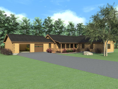 THE KEARNEY (03W0006) Real Log Homes rendering