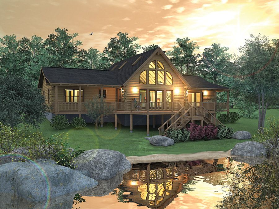 RICHMOND (03W0008) Real Log Homes rendering