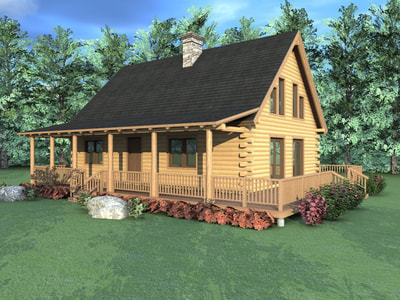 THE SONORA (03W0013) Real Log Homes rendering
